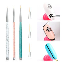 Tamax 3 PCS Set Nail Art Liner Painting Brush 5mm 8mm 11mm N...