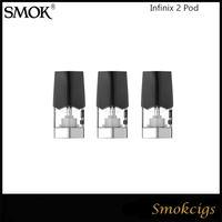 Оригинал Infinix SMOK 2 Pod картридж Форсунка 1.4ohm MTL Pod Подходит для SMOK Infinix 2 комплекта VS Смок Ново Pod 3шт / уп