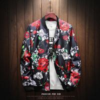Nowy Japan Style Casual Bomber Rose Jacket Mężczyźni Jaqueta Masculina Męskie Kurtki Płaszcz ChaqueTas Hombre Veste Homme Casaco Masculino