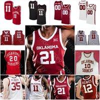 Custom Sooners OU Basketball Jersey NCAA College Austin Reaves Doolittle Brady Manek De'Vion Harmon Bieniemy Williams Young Griffin Hield