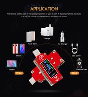 Tipo-C Pantalla LCD en color Probador de voltaje USB Medidor de corriente Voltímetro Batería Medida Banco de energía Indicador del cargador de PC