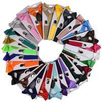 Mode für Kinder Strapse mit Bowtie Kinder Bow Tie Set Jungen Zahnspange Mädchen einstellbare Hosen Baby Hochzeit Krawatten Zubehör