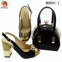 Dgrain Hochwertige Mode Großhandel Neue Ankunft Damen Lederschuhe Und Taschen Italienische Party Schuhe Spiel Tasche