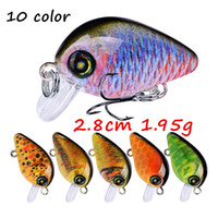 10 Colors Mixed 3D Eyes Crank Plastic Hard Baits & Lures 2. 8...