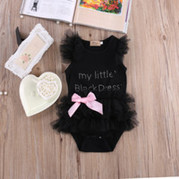 New Summer Baby Girls Romper Newborn Kids Lace Letter Prince...