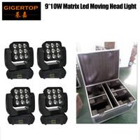 Flight Case 4in1 pack 9X10W RGBW 4en1 Led faisceau mobile Laver Lumière Big objectif Public fond Washer Auto Light / Son actif / DMX