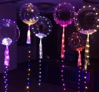 Ballons à LED Night Light Up Jouets 3M String Lights Flasher transparent balles de la vague d'éclairage Ballons d'hélium Décoration de Noël SN2736
