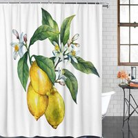 Fabric Shower Curtain Plant Flowers Shower Curtains Waterpro...
