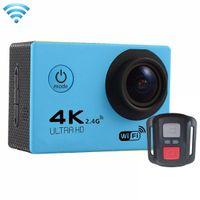 F60R 4K WIFI 액션 카메라 1080P HD 16MP 헬멧 캠 30m 방수 170도 광각 렌즈 DV 원격 제어 프로모션