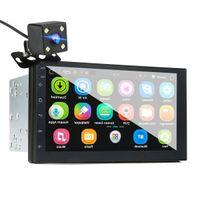 iMars 7 인치 2 딘 자동차 MP5 플레이어 후면 카메라와 함께 안드로이드 8.0 2.5D 스크린 자동차 DVD 스테레오 라디오 GPS WIFI 블루투스 FM에 대한