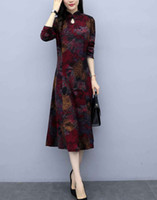 2019 الخريف شيونغسام جديد الإناث الأم ثوب الزفاف فستان الزفاف في منتصف العمر نمط اللباس الغربي