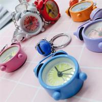 Sevimli Mini Saat Anahtarlık Karikatür Anahtarlık Küçük Çalar Saat Anahtarlık Yaratıcı Hediye kolye Çift Anahtarlık Güzel Çanta Aksesuar Hediyeleri