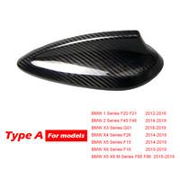 GTPARTS Real Fibra de Carbono Shark Fin Antena cobertura para BMW E90 E92 M3 F20 F30 F10 F34 G30 M5 F15 F16 F21 F45 F56 F01 F80 Antena Capa