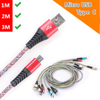 &1M 2M 3M High Speed 2. 1A Micro usb cableType C USB Cable fo...