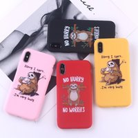 For Iphone 11 Pro Xs Max Xr Sloth Animal Cartoon Phone Case ...