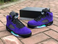 High Air Authentic 5 Alternate Grape Men Basketball Shoes 5S Grape Ice Black Athletic Shoes Clear New Emerald Suede Man Sports Sneakers