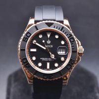 N 116655 melhor 2836-3135 movimento relógios banda orologio di Lusso preto mate Cerachrom borracha colarinho cerâmica desenhador relógios