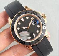 Reloj para hombre 40mm42mm goma rosa oro movimiento automático mecánico para hombre reloj de acero inoxidable reloj de pulsera