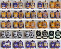 La Kings Jerseys Los Angeles Hockey Retro 99 Wayne Gretzky 30 Rogatien Vachon 33 Marcel Mcsorley 16 Marcel Dionne 20 Luc Robitaille
