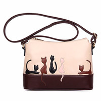 Cat Rabbit Leather Shoulder Bag Cross Body Purse Handbag Mes...