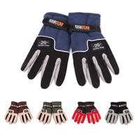 Регулируемые перчатки Мужчины Женщины Full Finger руно Открытый ветрозащитный Тепловое Горные лыжи Велоспорт Катание на лыжах Пешие перчатки LJJZ540
