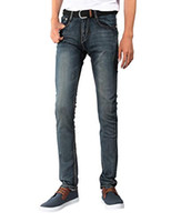 Demon hunter Jeans stretch skinny fit da uomo blu S8L28