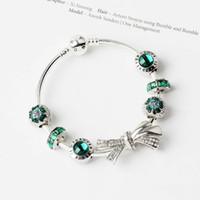 Wholesale- und weise 925 silberne Armbänder Bettelarmband Bogen Knoten Armbänder Charme Perlen Armreif DIY Schmuck für Weihnachten und Valentinstag Geschenk