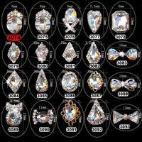 Nail Art Süslemeleri 5 adet Kristal AB Volcano Rhinestone Alaşım DIY Glitter K9 3D Takı Malzemeleri