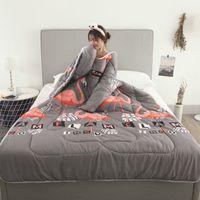 Flamingo Winter-Faule Quilt mit Ärmeln Winter-Quilt Startseite Bettwäsche Tröster Printed Halten Warmer Winter Bettdecke mit Füllung