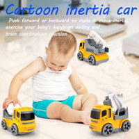3 Tipos de Veículos de Engenharia Inercial Mini Modelo Toy Diecast Liga Escavadeira Guindaste Bulldozer Pull Back for Boy Brinquedos Presente para o Miúdo