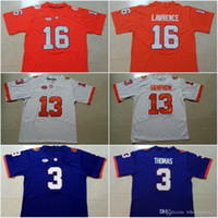 Personalizzato Clemson # 7 Chase Brice # 23 Lyn-J Dixon # 3 Amari Rodgers # 11 Taisun Phommachanh # 29 B.T. Potter # 16 Trevor Lawrence Maglie