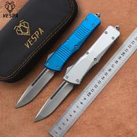 Hochwertiges VESPA Messerklinge: D2 (S / E Satin) 6 Farben Griff: Aluminium, Außen Camping Überlebensmesser EDC Werkzeuge, freies Verschiffen