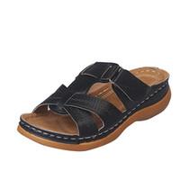 Scarpe più nuovi del progettista delle donne scarpe di cuoio Summer Fashion Sandali economici migliore spiaggia all'aperto pantofole di lusso 5 colori di grande formato Lidies