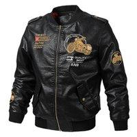 Nouveau Automne Hiver commandant en cuir pour hommes Veste Manteau Slim en cuir moto Ma1 Bomber Vestes Homme Manteaux Marque Vêtements Casual Taille M-5XL