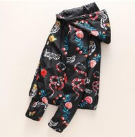 Fashion Designer Jacket Windbreaker Long Sleeve Mens Jackets Hoodie Clothing Zipper With Animal Letter Pattern Clothes Size; M-3XL