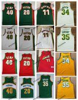 NCAA Vintage 20 Перчатка Пэйтон Дюрант 40 Reign Man Шон Кемп 11 Шремпф Рэй Аллен Красный Зеленый Баскетбол Джерси