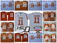 NCAA Texas Longhorns College Football # 11 Sam Ehlinger Vince Giovane Earl Earl Campbell Ricky Williams 26 Keaontay Ingram 150th Sugar Bowl Jersey
