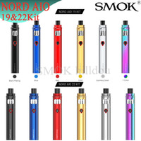 Authentisches SMOK NORD AIO 19 Kit 1300mAh mit eingebautem 2ml Tank NORD AIO 22 Kit 2000mAh mit eingebautem 3,5ml ALL-IN-ONE Design