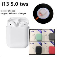 i13 tws wireless charger bluetooth headphones ture stereo bl...