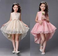 Bella ragazza fiore vestito principessa Pageant bambini partito ballo performance abiti da sposa occasione speciale per bambini vestito per bambini abito da ballo GHST94
