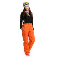 Лыжные брюки женщины сгущаются открытый туризм горный Спорт зима согреться сноуборд водонепроницаемый спортивные брюки женский снег