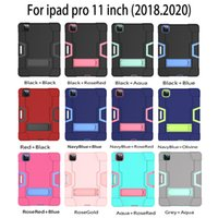 3 in 1 Hybrid Robot Heavy Duty Stand Case For iPad Mini 3 4 5 Air 10.5 Pro 11 2020 9.7 2018 10.2 Samsung T590 T830 T387 T510 T720 P200 T290