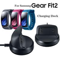 Czarne inteligentne zegarki Ładowarki 5 V 1A USB Ładowarka ładowarka Cradle Dock dla Samsung Gear Fit2 SmartWatch SM-R360