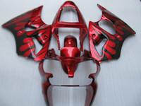 Kit de cuerpo de carenado de inyección para KAWASAKI Ninja ZZR600 ZZR 600 05 06 07 08 ZZR600 2005 2008 Rojo negro Carenados + regalos KU22