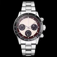 orologi meccanici perpetuo Paul Newman automatici uomini di lusso della vigilanza dell'annata uomini in acciaio inossidabile da uomo Orologi Orologi da polso # 668