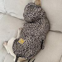 لوازم سترات مضادة للماء الكلب الملابس أزياء الحيوانات الأليفة الكلب معطف واق من المطر الجرو القطة البلوز ليوبارد كلب صغير الملابس الحيوانات الأليفة الفرنسية البلدغ T200101