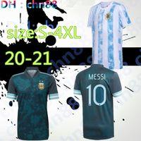 S-4XL 2020 الأرجنتين لكرة القدم جيرسي كوبا أمريكا 20 21 الموسم الجديد MESSI DYBALA هيجوين ICARDI Camisetas دي فوتبول لكرة القدم لكرة القدم قميص عدة