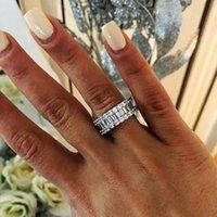 Kadınlar erkekler Takı Hediye için Nişan Alyans Yüzük cz 2019 Eternity Promise Yüzük 925 Gümüş Elmas Zirkon choucong