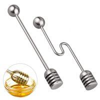 Honey Pot Kavanoz Konteynerleri 6.3 İnç JK2007XB için Bal Kepçe Çubuk Sunucu Şurup Karıştırıcı Paslanmaz Çelik Kaşık Wand