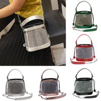 Women Lattice Leather Waterproof Crossbody Bags Messenger Tr...